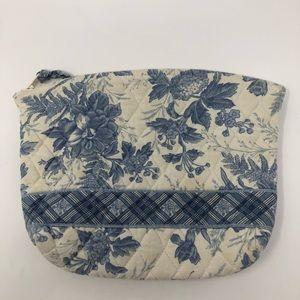 Vera Bradley Vintage Blue and White Makeup Bag